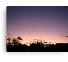Cold Winter Sky 7 Canvas Print