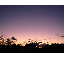 Cold Winter Sky 7 Photographic Print