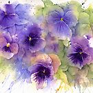 Purple Pansies by LinFrye