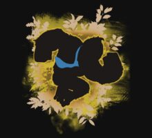 Super Smash Bros. Yellow/Gold Donkey Kong Silhouette Kids Tee