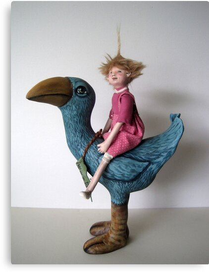 Little Sprout - art doll sculpture by LindaAppleArt