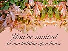 Christmas Holiday Open House Invitation - Christmas Cactus by MotherNature