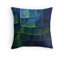 Countryside in the pouring rain Throw Pillow