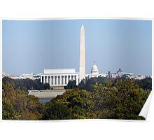 Washington Monuments Poster