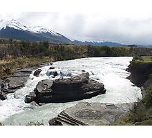 Waterfall in Torres del Paine Photographic Print