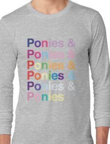 Ponies & Long Sleeve T-Shirt