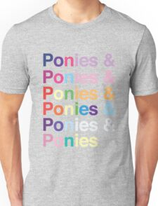 Ponies & Unisex T-Shirt