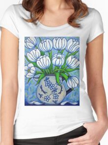Tulip Tranquility Women's Fitted Scoop T-Shirt