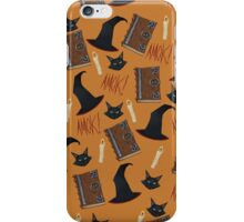 Just a Bunch of Hocus Pocus (Orange) iPhone Case/Skin