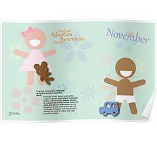 November - National Adoption Awareness Month Poster