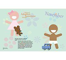 November - National Adoption Awareness Month Photographic Print