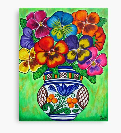 Pansy Parade Canvas Print