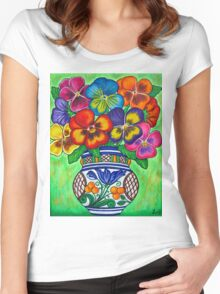 Pansy Parade Women's Fitted Scoop T-Shirt