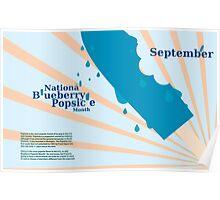 September - National Blueberry Popsicle Month Poster