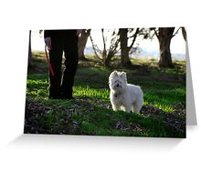 Max and Friend Greeting Card