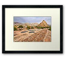 Split Mountain Potholes Framed Print