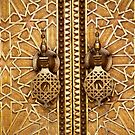 detail of a door at the royal palace in fez by Iris MacKenzie