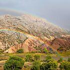 Double Rainbow at Split Mountain 2 by Kim Barton
