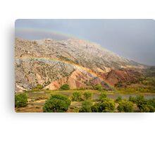 Double Rainbow at Split Mountain 2 Canvas Print