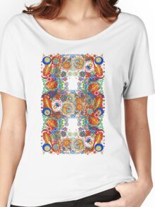 Paisley Flower Doodles 2  Women's Relaxed Fit T-Shirt