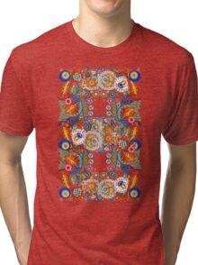 Paisley Flower Doodles 2  Tri-blend T-Shirt