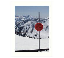 Avalanche Warning in Snowbird, Utah (USA) Art Print
