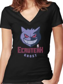NPA Series - GHOST TYPE Women's Fitted V-Neck T-Shirt
