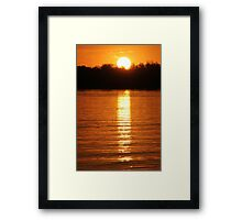 Sunset Reflection Framed Print