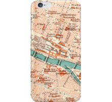 Paris Vintage Map iPhone Case iPhone Case/Skin
