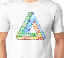 Penrose Triangle and the Primary Colours Unisex T-Shirt