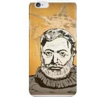 Ernest Hemmingway art iPhone Case/Skin