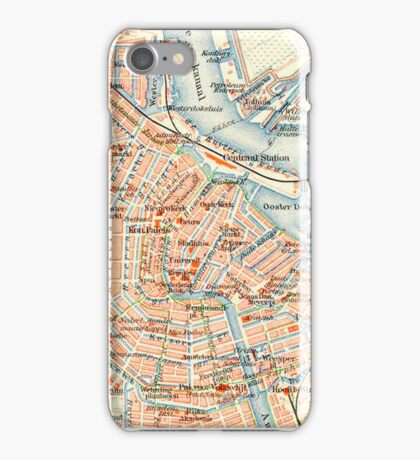 Amsterdam Vintage Map iPhone Case iPhone Case/Skin