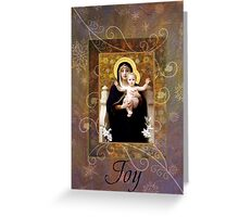 Winter Madonna card Greeting Card