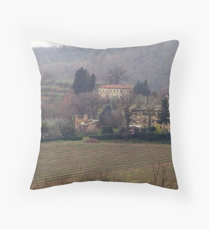 Montepulciano - Landscape with vineyard Throw Pillow