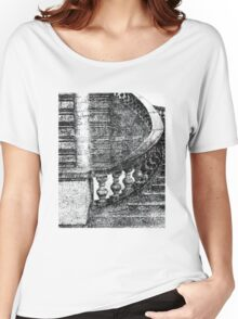 Black and White Staircase Women's Relaxed Fit T-Shirt