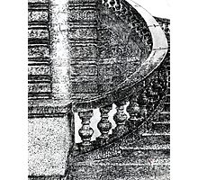 Black and White Staircase Photographic Print