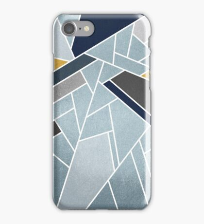 Soft silver/blue/navy/gold iPhone Case/Skin
