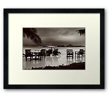 Sun goes down alone Framed Print
