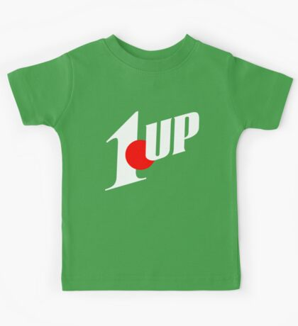 1up mixed up with 7up (mario NES) Kids Tee
