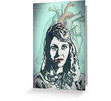 Sylvia Plath Digital Art Design Greeting Card