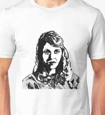 Sylvia Plath Digital Art Design Unisex T-Shirt