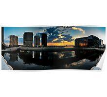 Webb Bridge Sunset Panorama Poster