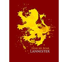 House Lannister Art Print Photographic Print