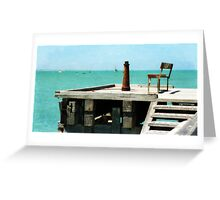 With a Sea View Greeting Card
