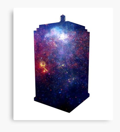 Police Box Space Canvas Print