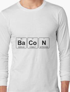 Ba Co N - Bacon - Periodic Table - Chemistry Long Sleeve T-Shirt