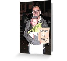 protest baby Greeting Card