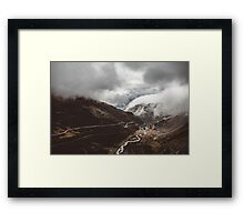 Somewhere in Switzerland Framed Print