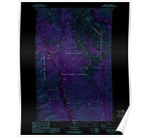 USGS Topo Map Washington State WA Trinity 244343 1988 24000 Inverted Poster