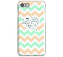 There a-pears to be pastel peach chevron in the clouds iPhone Case/Skin